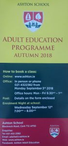 Autumn 2018 flyer